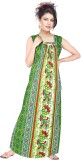 Satyam Women's Nighty (Green)