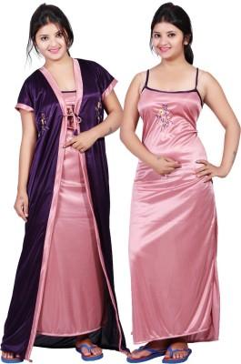 MAHAARANI Women,s Nighty with Robe