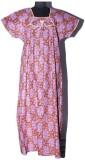 Beekay Women's Nighty (Brown, Purple)