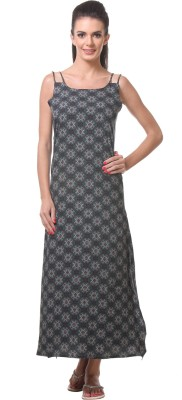 Tweens Women's Night Dress(Grey) at flipkart