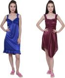 Simrit Women's Nighty (Blue, Purple)