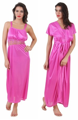 Masha Women's Night Dress(Pink) at flipkart
