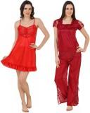 CrazyLiner Women's Nighty (Red)