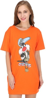 Camey Women's Nighty(Orange) at flipkart