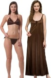 Being Fab Women's Nighty (Brown)
