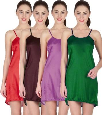 You Forever Women's Nighty(Green, Brown, Purple, Maroon) at flipkart