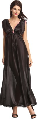 Clovia Women's Nighty(Black) at flipkart