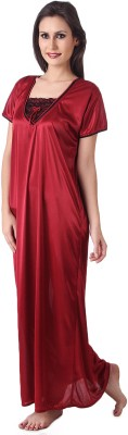 Masha Women's Nighty(Maroon) at flipkart