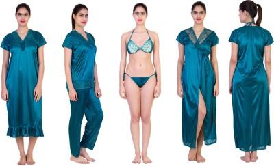 Impact Creators Women's Nighty with Robe, Top and Capri