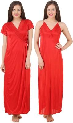 Fasense Women's Nighty with Robe