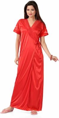 KuuKee Women's Nighty with Robe