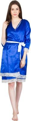 Patrorna Women's Nighty with Robe(Blue) at flipkart