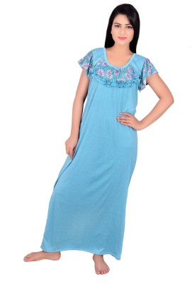 Kanika Women's Nighty(Blue) at flipkart
