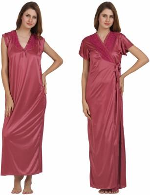 Miavii Women's Nighty with Robe