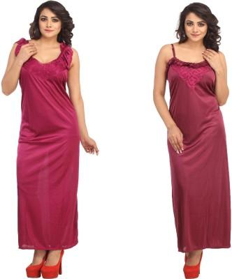 Guru Nanak Fashions Women's Nighty with Robe
