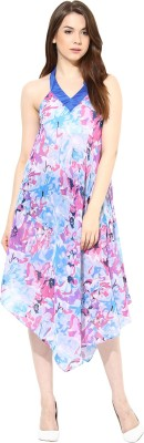 Athena Women's Night Gown(Light Blue) at flipkart