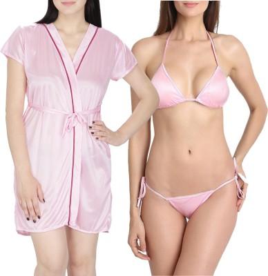 You Forever Women's Robe(Pink) at flipkart