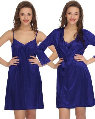 Clovia Women's Nighty with Robe