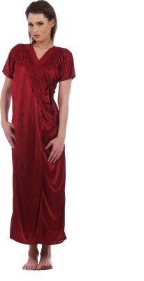 Eeshar Women's Nighty with Robe