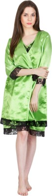 Patrorna Women's Nighty with Robe(Green) at flipkart