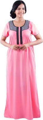 Maybell Women's Nighty(Pink)