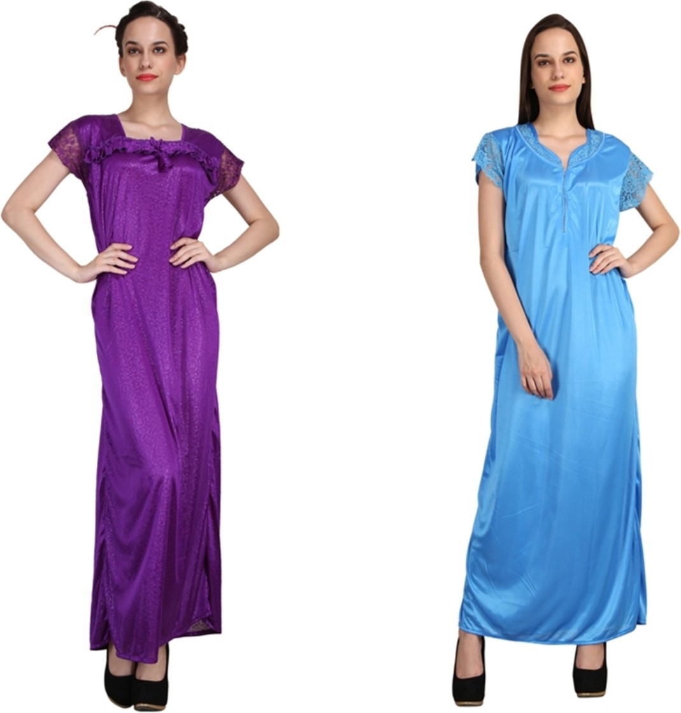Crazeis Women s Nighty(Purple 08598fca4