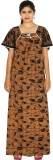 Maa Collection Women's Nighty (Brown)