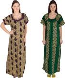 Guru Nanak Fashions Women's Nighty (Purp...