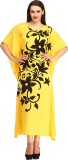 Cottinfab Women's Nighty (Yellow)