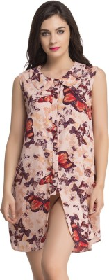 Clovia Women's Nighty(Brown) at flipkart