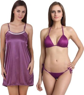 You Forever Women's Nighty(Purple) at flipkart