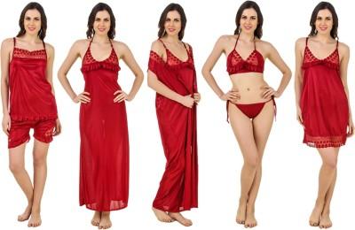 f33579da57 Ahaana Fashion Women s Nighty with Robe Orange Best Price in India ...