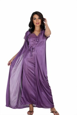 Belle Nuits Girl,s, Women's Nighty with Robe, Top and Capri