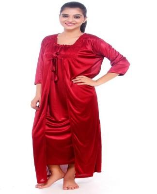 Dream Fashion Women's Nighty with Robe