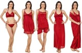 Freely Women's Nighty with Robe, Top and...