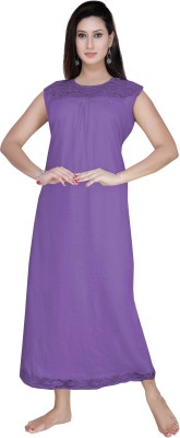 Gargi Women's Nighty(Purple) at flipkart
