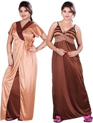 FDT Women's Nighty with Robe