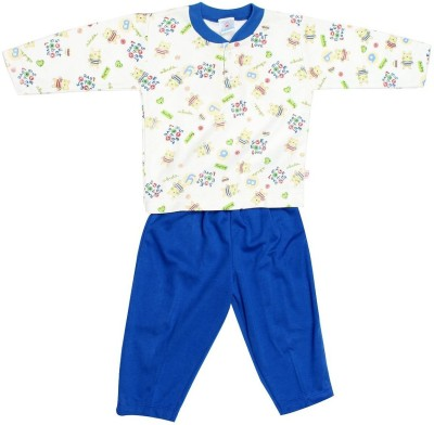 Babeezworld Baby Boy's Printed Blue Sleepshirt