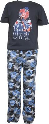 Sweet Dreams Men's Solid Black Top & Pyjama Set