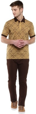 Cayman Men's Printed Beige Top & Pyjama Set