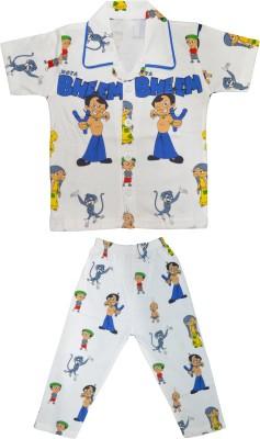 Smilee Boy's Printed Multicolor Top & Pyjama Set