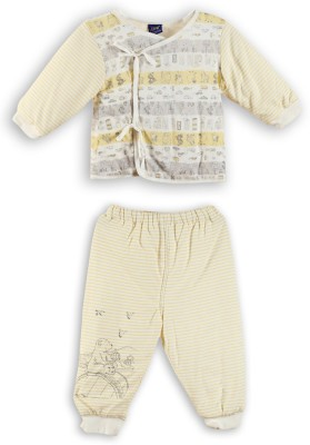 Lilliput Baby Boys Printed Yellow Top & Pyjama Set