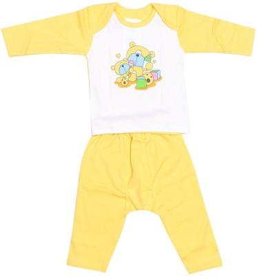 Babeezworld Baby Boy's Printed Yellow Sleepshirt