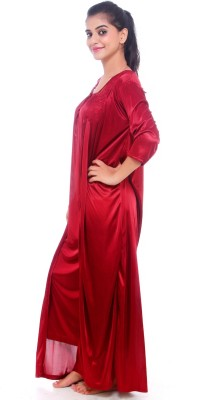 Glambing Women's Nighty with Robe