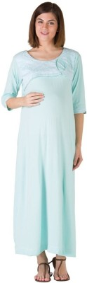 Morph Maternity Women's Solid Light Blue Sleepshirt