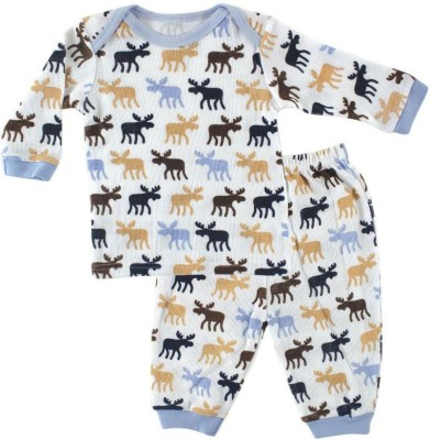 Hudson Baby Baby Boy's Printed Multicolor Top & Pyjama Set