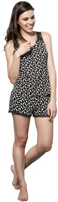 Penny by Zivame Women,s Polka Print Multicolor Top & Shorts Set
