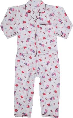Kingstar Boy's Printed Red Top & Pyjama Set