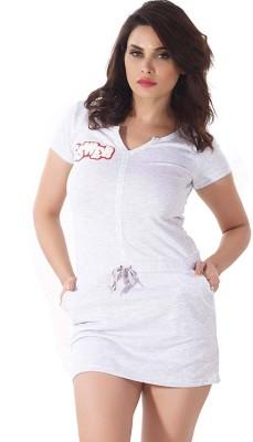 Shyle Women's Solid Grey Sleepshirt