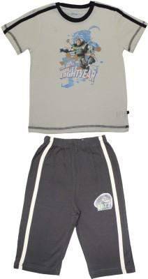 Body Care Boy's Printed Multicolor Top & Capri Set